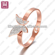China factory wholesale crystal bow bracelet for girlfriend