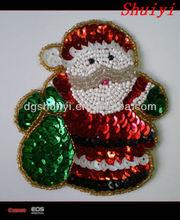 appliqued Sequin Santa Claus /santa claus embroidery/patches/badges