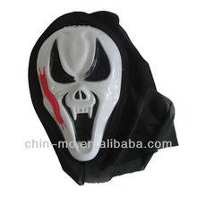 Scary PVC de plástico máscara de maquillaje para la decoración del partido de Halloween