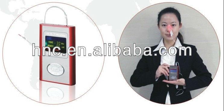Aprovado pela CE Intranasal luz pulso terapia instrumento tratamento a Laser sinusite produto