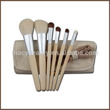 6pcs linen pouch Eco friendly private label makeup brush set