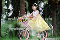 Jenny royalbaby princesa chino de cuatro ruedas de las bicicletas kids' con la cesta
