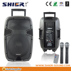 SHIER AK15-302 USB MP3 Wireless Mics Trolley PA Woofer Speaker