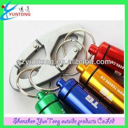 Aluminum climbing carabiner with custom logo for bag holder
