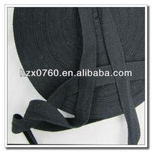 Knitted cotton herringbone tape