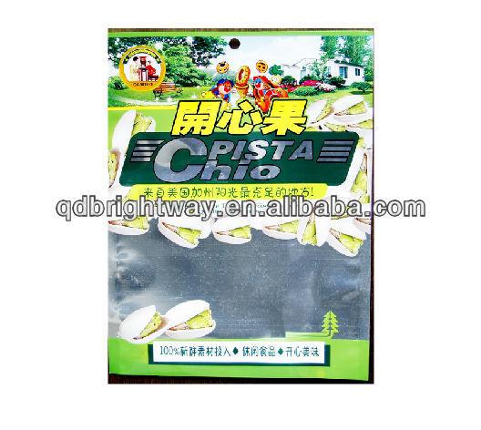 Plastic food packaging bag for snack