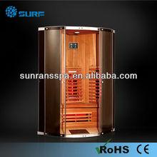 2013 new design ceramics / carbon fiber plate infrared sauna cabinet