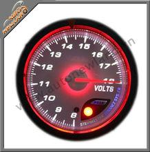 60mm car led digital volt gauge