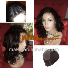 Fast! 12inch body curl 1b natural black full lace wig 100% brazilian virgin hair