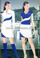 moda sexy uniforme la promoción vestido de promoción