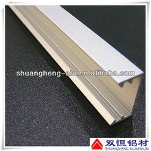 6061/6063 polish aluminum window channel profiles