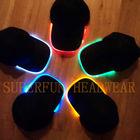 patent fiber optic LED flashing light caps and hats
