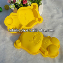 smile ,yellow and beautiful girl silicone cake mold
