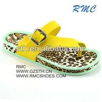 Leopard Sole PVC Strap For Slipper