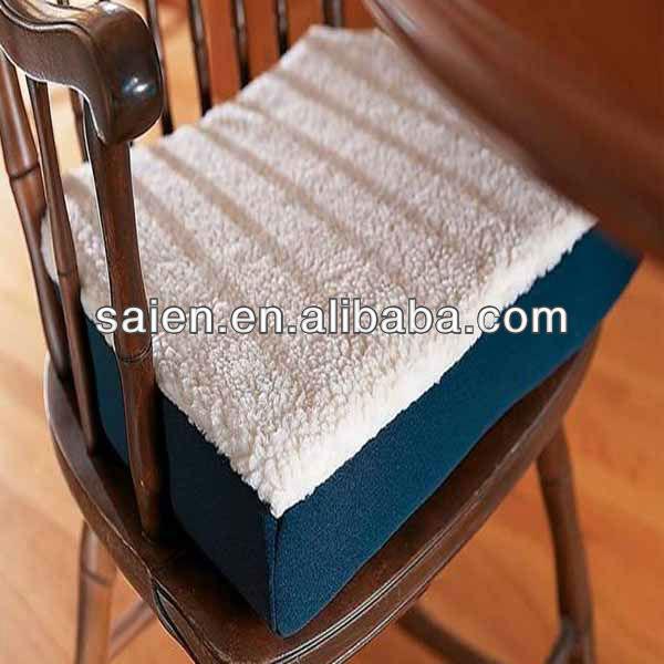 Espuma da memória de refrigeração gel almofada do assento, Para comprar tecido de pelúcia