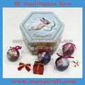 coloridoimpreso de navidad adornos de bolas de espuma de poliestireno