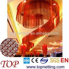 Metallic coil drapery/hanging metal mesh curtain/interior decorative mesh