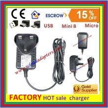 UK 3Pin Mains Power Adapter 5V 3A Micro USB Charger