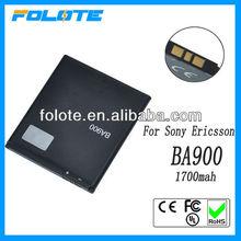 Standard BA900 Battery for sony ericsson ba900 LT29i 3.7V high capacity 1700mah rechargeable li-polymer