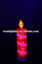 9L LED christmas pvc reflector candle solar garden lights