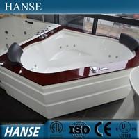 HS-B1624 Acrylic whirlpool indoor heart shaped drop-in bathtub for couple