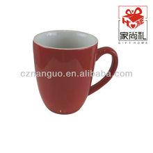 11oz ceramic red glazed stoneware coffee mug