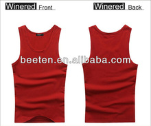 sexy red vest for men