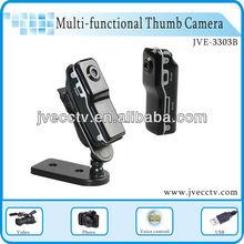 JVE3303B-Thumb MINI Digital camera DVR With 4GB TF card,3.0 mega pixel HD USB drive pocket pinhole camera