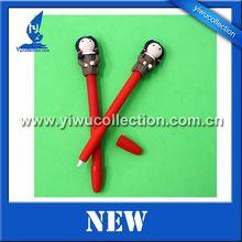 cartoon polymer clay ball pen,soft clay pen