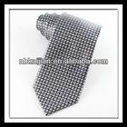 Men's trendy woven silk ti grey grid