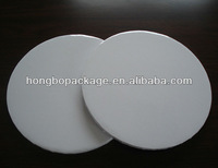 foil covered round white cake board cake circles