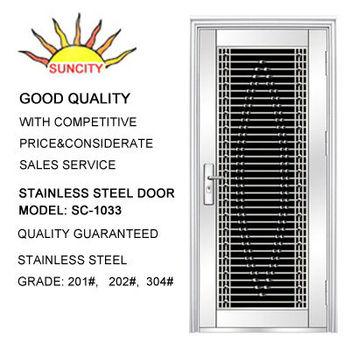 Decorative stainless steel security door grill design
