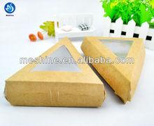 Disposable kraft paper sandwich packaging