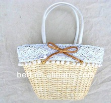 best selling lady hand made straw beach bag