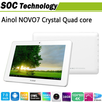 Ainol Novo7 Crystal Android 4.1 Tablet PC Actions ATM7029 8GB, View