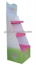 flaring floor display corrugated paper