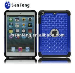 Super hot sale for ipad mini case,diamond decorations case fori pad mini,bling bling shape with blue for ipad mini case