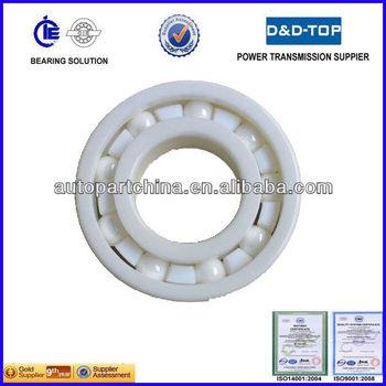Full ceramic ball bearing with hybrid balls