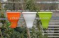 La familia 2013 de plástico maceta de flores balaustre valla olla olla balcón pot-9927