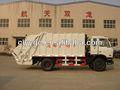 Compactador de basura hidráulico de la fábrica original, Dongfeng chasis, camión 4x2, generador de diesel