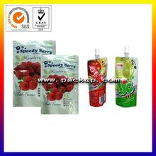 alimentos seguros de pico vertedor bolsa