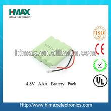 Rechargable 2/3AA Ni-mh Battery 4.8V 550mAh for Airtronics