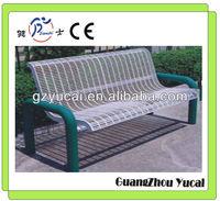 Outdoor steel bench chair