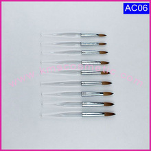 100% Pure Kolinsky Acrylic Nail Brush with Acrylic Handle