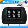 "7"" headrest lcd dvd player for mercedes, IR/FM/32 bit Game/USB/SD/Zip Cover/3 colors"