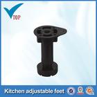 Adjustable plastic adjustable cabinet leg for kitchen