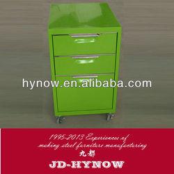 New design popular 3 drawer steel mobile pedestals