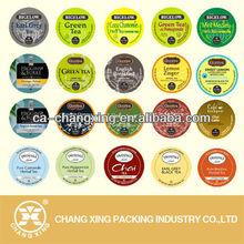 bubble tea cups seal film for PP/PS/PET bubble tea cup heat seal