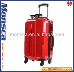Monsca New Designer PC Shiny Hard Girls Travel Trolley luggage