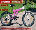 """Royalbaby Climber 20 """" ladys bicicletas de montanha com suspensão e SHIMANO freios a"""